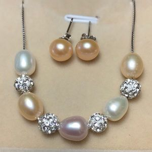 Fresh water pearl sterling silver set